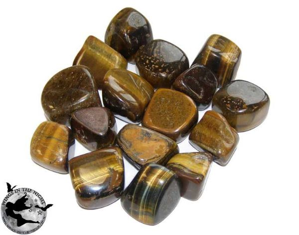 TIGER'S EYE Gemstone Healing Tumblestone Crystal